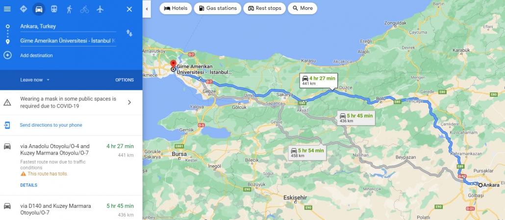 آدرس دانشگاه گیرنه استانبول