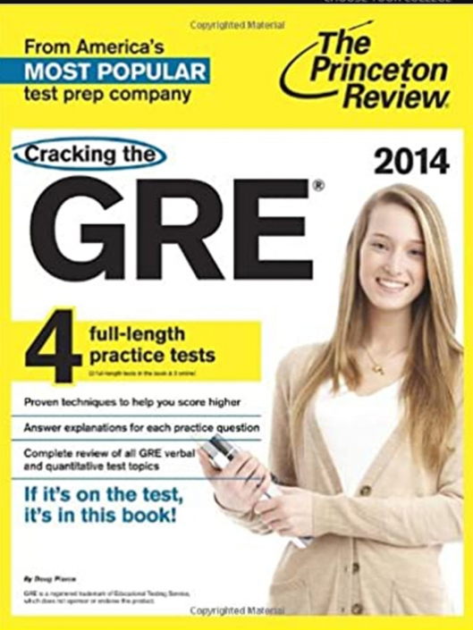 دانلود کتاب Cracking the GRE with 4 Practice Tests